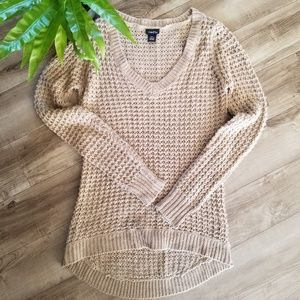 Rue 21 tan waffle knitted sweater size S